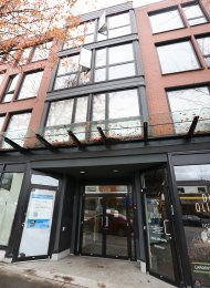 Fully Furnished 1 Bedroom Apartment Rental at Sugar in East Vancouver. 403 - 2636 Hastings Street, Vancouver, BC, Canada.