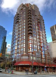 Fully Furnished Apartment Rental at Imperial Towers in Downtown Vancouver. 1206 - 811 Helmcken Street, Vancouver, BC, Canada.