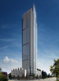 Unfurnished 3 Bedroom Luxury Apartment Rental at Modello in Metrotown. 2506 - 4360 Beresford Street, Burnaby, BC, Canada.