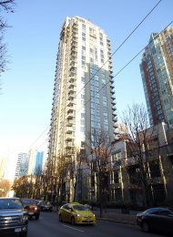 City View Unfurnished 2 Bedroom Apartment For Rent at Savoy in Yaletown. 605 - 928 Richards Street, Vancouver, BC, Canada.