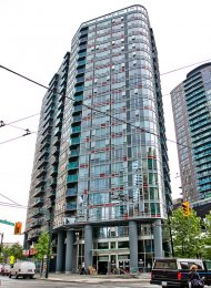 City View 17th Floor Unfurnished 2 Bedroom Apartment Rental at TV Towers in Yaletown. 1703 - 788 Hamilton Street, Vancouver, BC, Canada.