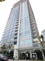 Modern 5th Floor 1 Bedroom & Den Apartment For Rent in Central Lonsdale at CentreView. 508 - 125 14th Street East, North Vancouver, BC, Canada.