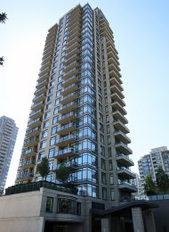 Fully Furnished 2 Bedroom Apartment Rental at Oma in Brentwood Burnaby. 2501 - 4250 Dawson Street, Burnaby, BC, Canada.