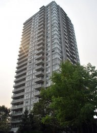 Unfurnished 2 Bedroom Apartment Rental at Watercolours in Brentwood. 2007 - 2289 Yukon Crescent, Burnaby, BC, Canada.
