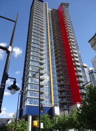 1 Bedroom Apartment For Rent at Spectrum in Downtown Vancouver. 2607 - 111 West Georgia Street, Vancouver, BC, Canada.
