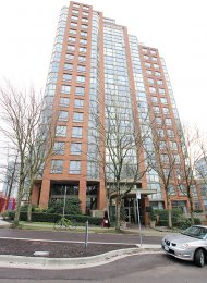 Fully Furnished 1 Bedroom Apartment Rental at Pacific Promenade in Yaletown. 603 - 888 Pacific Street, Vancouver, BC, Canada.