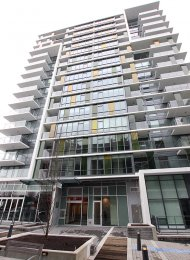 Tower Green at West 1 Bed & Solarium Apartment Rental at The Olympic Village. 206 - 159 West 2nd Avenue, Vancouver, BC, Canada.