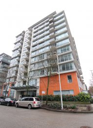 Modern 5th Floor 1 Bedroom Unfurnished Apartment For Rent at Foundry in Westside Vancouver. 509 - 1833 Crowe Street, Vancouver, BC, Canada.