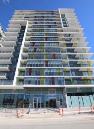 1 Bed Apartment Rental + Solarium, Balcony & City Views at Epic at West at The Olympic Village. 1601 - 1788 Columbia Street, Vancouver, BC, Canada.