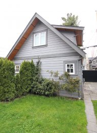 Unfurnished 1 Bedroom Laneway House For Rent in Kitsilano. 3311 West 12th Avenue, Vancouver, BC, Canada.