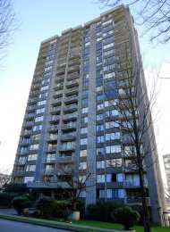 15th Floor Unfurnished 1 Bedroom Apartment For Rent at Westsea Towers in The West End. 1501 - 1330 Harwood Street, Vancouver, BC, Canada.