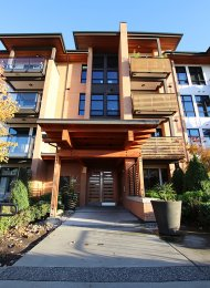 Ground Level 2 Bed Loft Style Apartment Rental at GlassHouse Lofts in New Westminster. 116 - 220 Salter Street, New Westminster, BC, Canada.