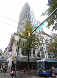 26th Floor 1 Bedroom Apartment Rental at The Hudson in Downtown Vancouver. 2615 - 610 Granville Street, Vancouver, BC, Canada.