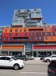 Modern 1 Bed Apartment Rental at the Ballantyne in Strathcona in East Vancouver. 202 - 933 East Hastings Street, Vancouver, BC, Canada.