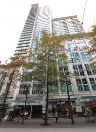 1 Bedroom & Solarium Apartment Rental at The Hudson in Downtown Vancouver. 1402 - 610 Granville Street, Vancouver, BC, Canada.