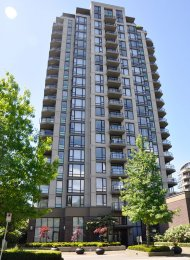 Lower Lonsdale Water & City View Unfurnished 1 Bedroom Apartment Rental at Sky. 908 - 151 West 2nd Street, North Vancouver, BC, Canada.