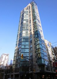City Crest 7th Floor Unfurnished 1 Bedroom Apartment Rental in Yaletown, Vancouver. 1155 Homer Street, Vancouver, BC, Canada.