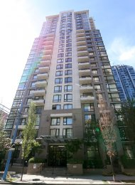 Renovated, City View, Unfurnished 1 Bedroom Apartment Rental at Oscar in Yaletown. 1208 - 1295 Richards Street, Vancouver, BC, Canada.