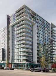Modern 2 Bed & Flex Apartment For Rent at Tower Green at West at The Olympic Village. 701 - 159 West 2nd Avenue, Vancouver, BC, Canada.