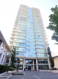 Fully Furnished Mountain View 1 Bedroom & Den Apartment Rental at Affinity in Brentwood. 2605 - 2232 Douglas Road, Burnaby, BC, Canada.