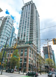 7th Floor Unfurnished 1 Bedroom & Den Apartment Rental at Dolce in Downtown Vancouver. 701 - 535 Smithe Street, Vancouver, BC, Canada.