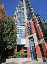 Parkview Tower 6th Floor 2 Bedroom Unfurnished Apartment Rental in Yaletown, Vancouver. 608 - 289 Drake Street, Vancouver, BC, Canada.