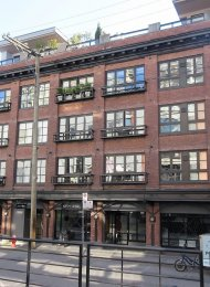 The New Yorker Huge 3rd Floor 1 Bedroom Heritage Apartment Rental in Yaletown, Vancouver. 308 - 1066 Hamilton Street, Vancouver, BC, Canada.