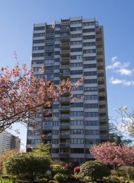 Ocean View Renovated 2 Bedroom Apartment Rental at The Sandpiper in Vancouver's West End. 2006 - 1740 Comox Street, Vancouver, BC, Canada.