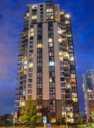 Crescendo Spacious 6th Floor Unfurnished 2 Bedroom Apartment Rental in Port Moody. 101 - 288 Ungless Way, Port Moody, BC, Canada.