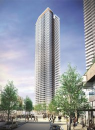 Brand New 52nd Floor Mountain View 2 Bedroom Apartment Rental at The Amazing Brentwood. 5205 - 4650 Brentwood Boulevard, Burnaby, BC, Canada.