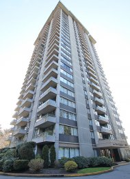 25th Floor 1 Bedroom Unfurnished Apartment Rental at The Harrington in Lougheed, Burnaby. 2505 - 3970 Carrigan Court, Burnaby, BC, Canada.