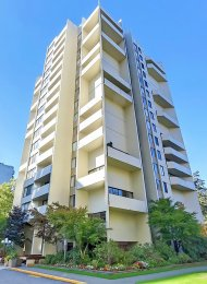 Times Square 9th Floor Unfurnished 1 Bedroom & Den Apartment Rental in Metrotown, Burnaby. 908 - 4105 Maywood Street, Burnaby, BC, Canada.