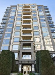 12th Floor Unfurnished 1 Bedroom & Den Penthouse Rental in Fairview, Westside Vancouver. 1204 - 1316 West 11th Avenue, Vancouver, BC, Canada.