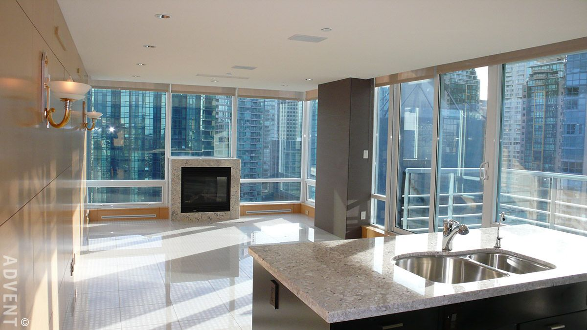 Cascina apartment rental 2304 590 nicola st vancouver advent for Two bedroom apartment vancouver