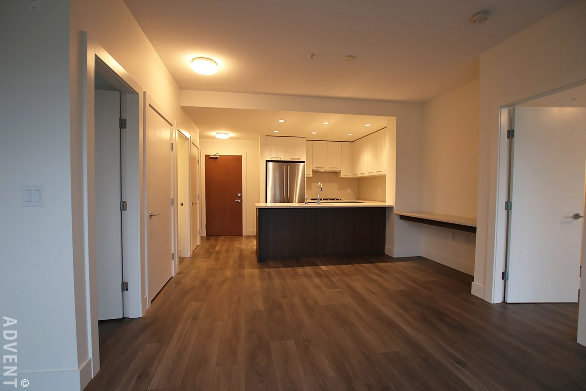 Two town centre apartment rental 316 8580 river district crossing vancouver advent for Two bedroom apartment vancouver