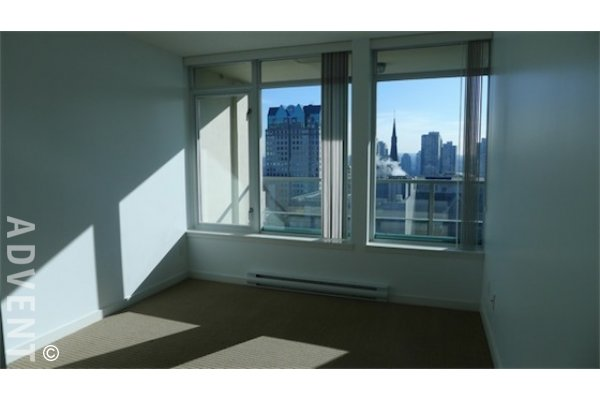 Hudson 1 Bedroom Unfurnished Apartment Rental in Downtown Vancouver. 1413 - 610 Granville Street, Vancouver, BC, Canada.