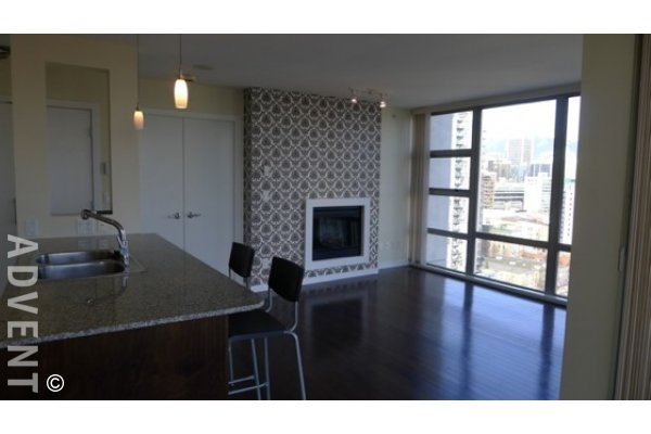 Eden Luxury 2 Bedroom Unfurnished Apartment Rental in Yaletown. 2102 - 1225 Richards Street, Vancouver, BC, Canada.