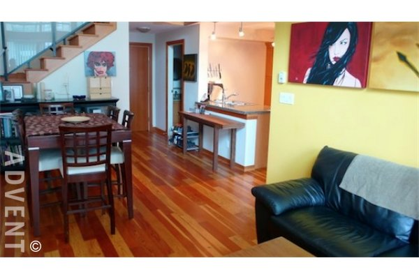Murano Lofts 2 Bedroom Unfurnished Loft For Rent in New Westminster Quay. 228 - 10 Renaissance Square, New Westminster, BC, Canada.