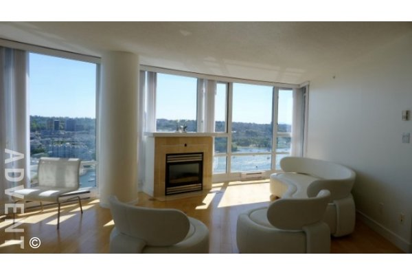 Luxury 2 Bedroom Unfurnished Apartment Rental at Quaywest in Yaletown. 3106 - 1033 Marinaside Crescent, Vancouver, BC, Canada.