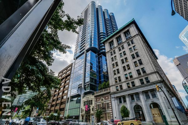 Jameson House 1 Bedroom Luxury Apartment Rental in Coal Harbour Vancouver. 3004 - 838 West Hastings Street, Vancouver, BC, Canada.