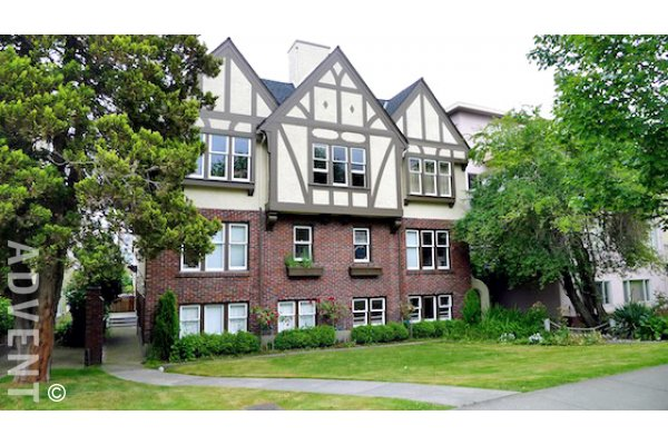 Unfurnished 2 Bedroom Apartment For Rent in Fairview at Devon Manor. 6 - 1255 West 12th Avenue, Vancouver, BC, Canada.
