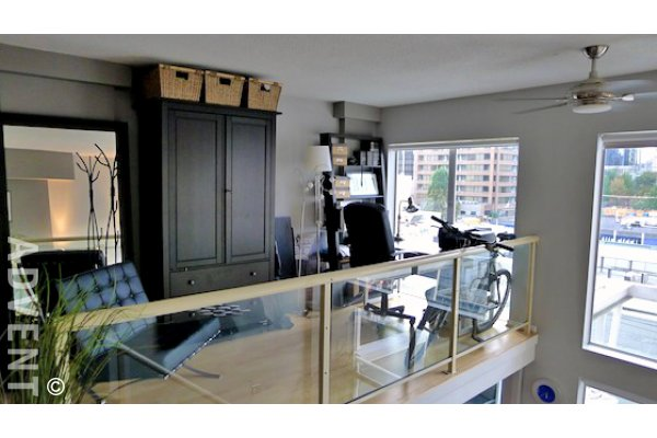 1 Bedroom Unfurnished Loft For Rent at Spot Lofts in Downtown Vancouver. 409 - 933 Seymour Street, Vancouver, BC, Canada.