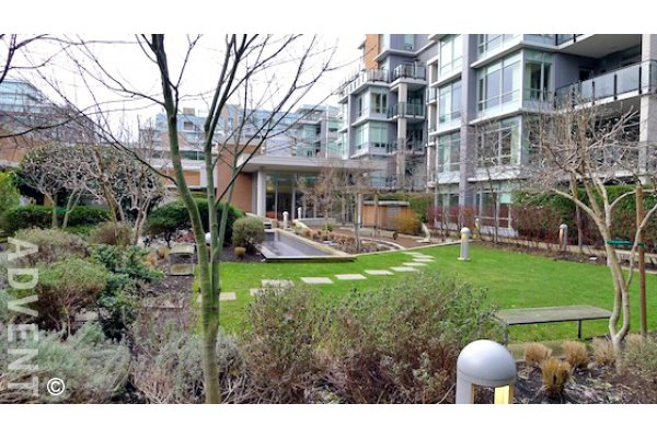 Shoreline 1 Bedroom Unfurnished Apartment For Rent at the Olympic Village. 305 - 1625 Manitoba Street, Vancouver, BC, Canada.