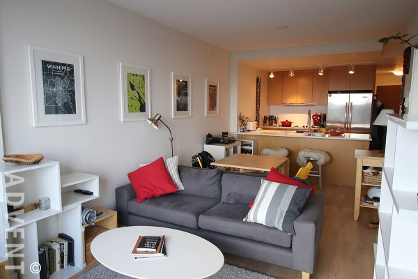 1 Bedroom + Den & Balcony Apartment For Rent at District in Mount Pleasant, East Van. 913 - 251 East 7th Avenue, Vancouver, BC, Canada.