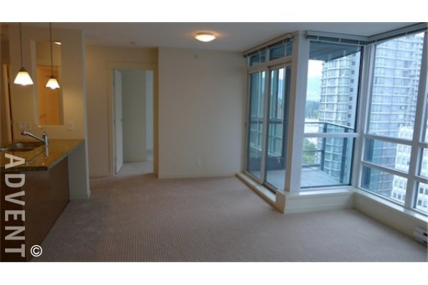 11th Floor Unfurnished Mountain View 2 Bed & Den Apartment Rental at The Melville in Coal Harbour. 1102 - 1189 Melville Street, Vancouver, BC, Canada.