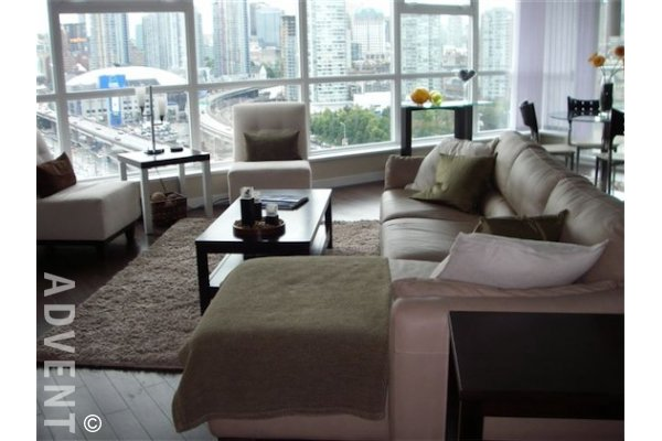 Furnished Luxury 2 Bedroom Apartment Rental at Creekside in Vancouver. 1606 - 125 Milross Drive, Vancouver, BC, Canada.