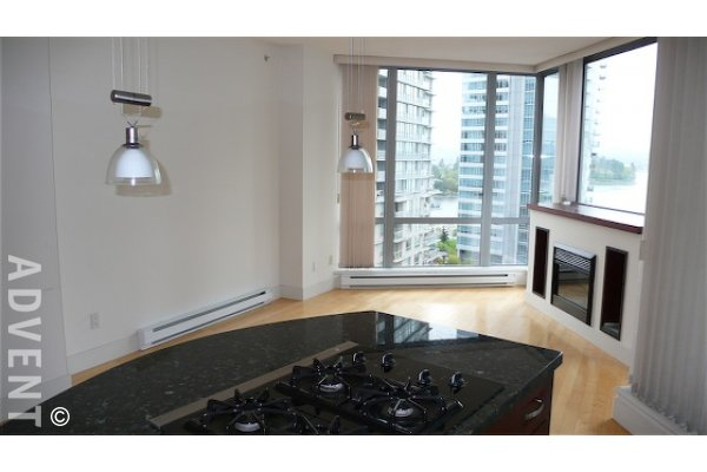Luxury 10th Floor Water View 2 Bedroom & Den Apartment Rental in Coal Harbour at Palladio. 1001 - 1228 West Hastings Street, Vancouver, BC, Canada.