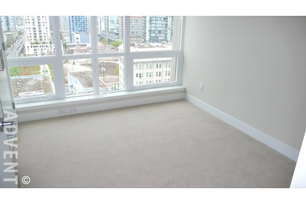 Unfurnished 2 Bed & Solarium Apartment Rental at The Donovan in Yaletown, Vancouver. 1609 - 1055 Richards Street, Vancouver, BC, Canada.