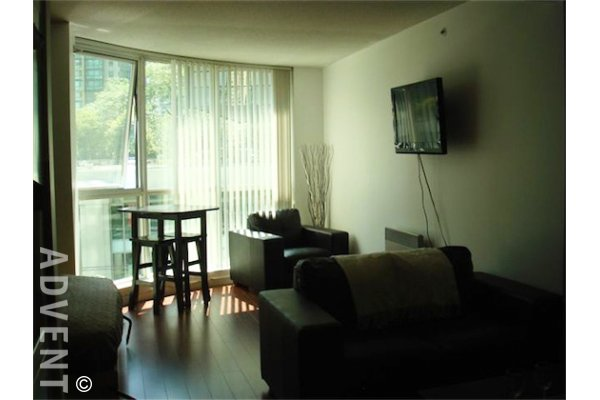 Furnished Studio For Rent at Harbourside Park in Coal Harbour Vancouver. 408 - 588 Broughton Street, Vancouver, BC, Canada.