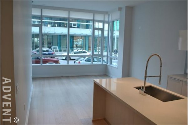 Kayak 1 Bedroom Unfurnished Townhouse For Rent at the Olympic Village. 18 Athletes Way, Vancouver, BC, Canada.